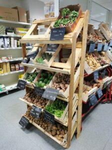 Le nouveau meuble de présentation des légumes